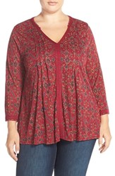 Plus Size Women's Lucky Brand 'Vintage Muse' V Neck Top