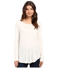 Hurley Staple Classic Long Sleeve Top Off White Women's Long Sleeve Pullover Beige