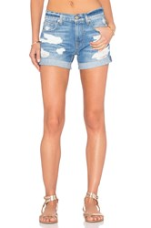 7 For All Mankind Relaxed Distressed Short Rigid Blue Orchid