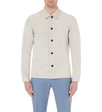 Reiss Rumour Suede Shirt Grey