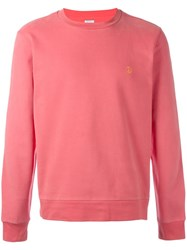 Paul Smith Contrast Peace Embroidered Sweatshirt Pink Purple