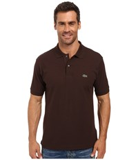 Lacoste L1212 Classic Pique Polo Shirt Brownie Men's Short Sleeve Knit