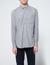 Gitman Brothers Vintage Popover Flannel In Grey