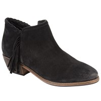 John Lewis Collection Weekend By Paola Fringed Ankle Boots Black