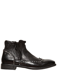John Varvatos Studded Leather Chelsea Boots Black