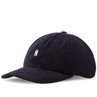 Norse Projects Corduroy Sports Cap Blue