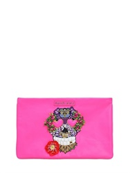 Manish Arora Skull Embellished Leather Pouch