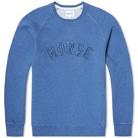 Norse Projects Ketel Logo Solid Brushed Sweat Blue