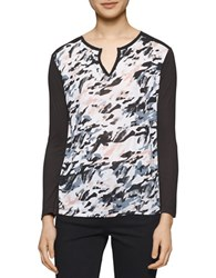 Calvin Klein Jeans Printed Long Sleeve Top Classic White
