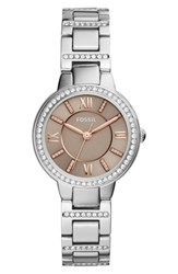 Fossil Women's Virginia Crystal Bracelet Watch 30Mm