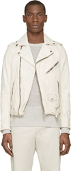 Diesel Off White Leather L Umenirok Jacket