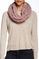 14Th And Union Cable Knit Infinity Scarf Pink