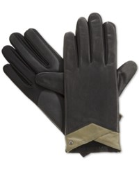 Isotoner Signature Stretch Leather Tech Touch Gloves Black Avocado
