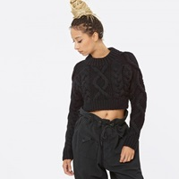 Dkny L S Cropped Pullover Black P36921794c
