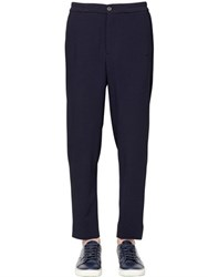 Giorgio Armani 17.5Cm Stretch Wool Seersucker Pants