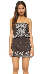 Star Mela Avi Dress Faded Black Ecru