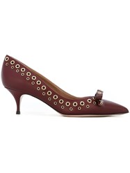 Red Valentino Eyelet Pumps Red