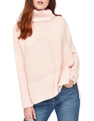 Miss Selfridge Turtleneck Chunky Knit Sweater Pink