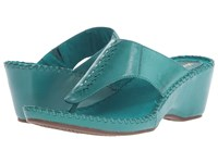 Hush Puppies Aven Copacabana Turquoise Leather Women's Sandals Blue