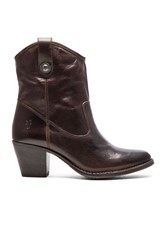 Frye Jackie Button Short Boot Brown