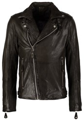 Gipsy Marlon Leather Jacket Oliv
