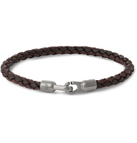 Mulberry Woven Leather Bracelet Brown