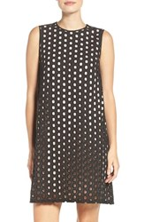 Adrianna Papell Women's Eyelet Trapeze Dress