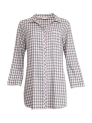 Cyberjammies Lotus Check Nightshirt Grey Ivory