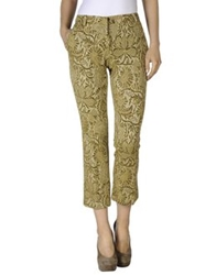 Semi Couture Casual Pants Gold