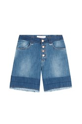 See By Chloe See By Chloe Button Front Jean Shorts Blue