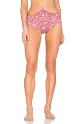 For Love And Lemons Belize Hi Waist Bottom Mauve