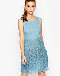 True Decadence Dress With Crochet Skirt Cornflower Blue