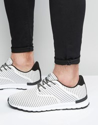 Pull And Bear Pullandbear Trainers With Stripes In White White