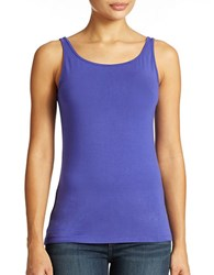 Lord And Taylor Plus Iconic Fit Slimming Tank Top Blue Violet