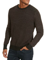Kenneth Cole Marled Crewneck Sweater Merlot