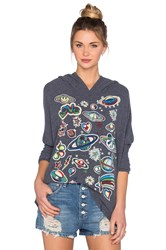 Lauren Moshi Wilma Retro Space Pullover Blue