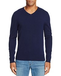 Ag Green Label Ridgewood V Neck Sweater Naval Blue
