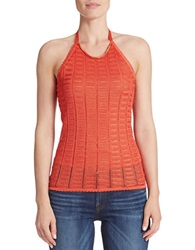 Guess Crocheted Halter Top Orange