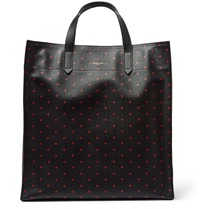 Givenchy Cross Print Leather Tote Black