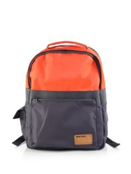 Diesel Colorblock Backpack Orange
