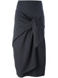 Antonio Marras Knot Effect Skirt Grey