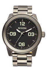 Nixon 'The Corporal' Bracelet Watch 48Mm Polished Gunmetal Lum