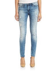 Buffalo David Bitton Faith Distressed Skinny Jeans Whitewater