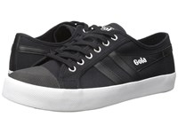 Gola Coaster Black Black White Men's Lace Up Casual Shoes