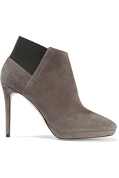 Jimmy Choo Talula Suede Ankle Boots Gray