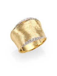 Marco Bicego Lunaria Diamond And 18K Yellow Gold Band Ring