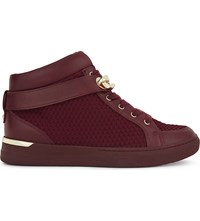 Aldo Storo Mid Top Trainers Bordo