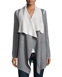 360Cashmere Long Sleeve Skull Cardigan Coat Gray Size Small