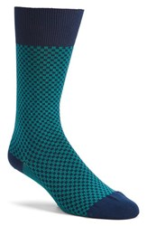 Men's Boss 'Rs Design' Check Socks Blue Dark Blue Teal