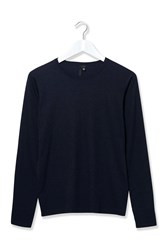 Grandad Long Sleeved Top By Boutique Navy
